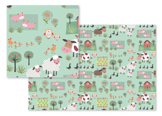 fabric - Baby barnyard by A Tina Beans