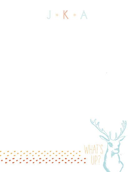 personal stationery - What's Up Deer? by Evelyn Francis Cook