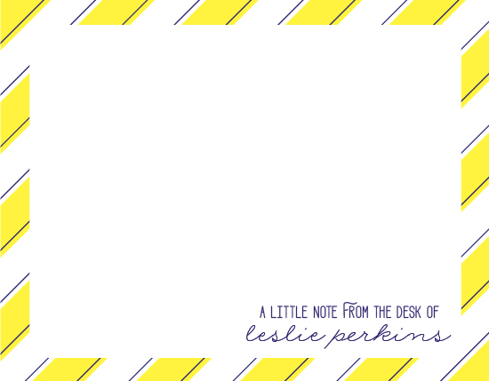 personal stationery - Preppy Note by Kristen Sangregorio