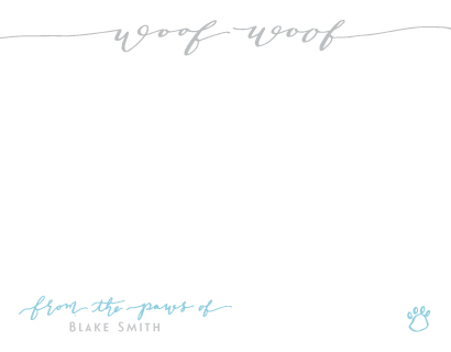 personal stationery - Woof! A Dog Hello by HOOKED Calligraphy