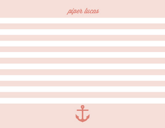 personal stationery - Bateau Stripe by Ann Connelly