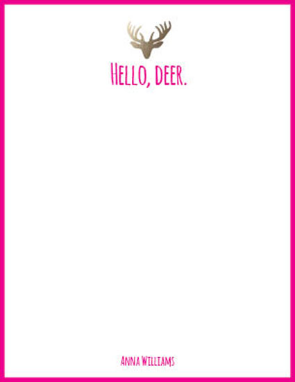 personal stationery - Hello Deer by Paula Riley