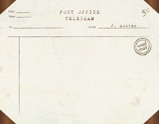 personal stationery - Telegram to Fam by Simply Leah Jean