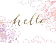 Hello Peony by 365 Designs