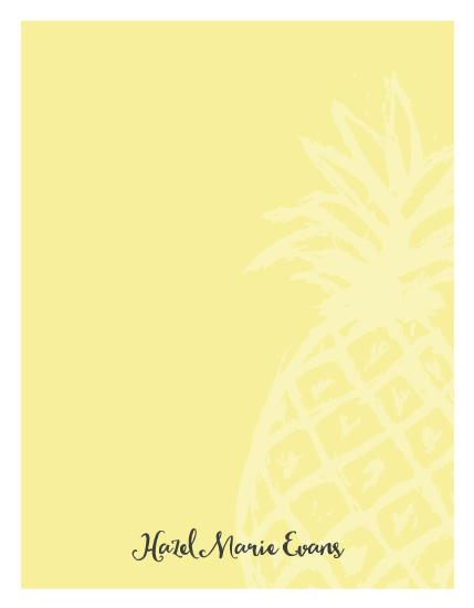 personal stationery - Trending Pineapple by Jocelyn Cocain