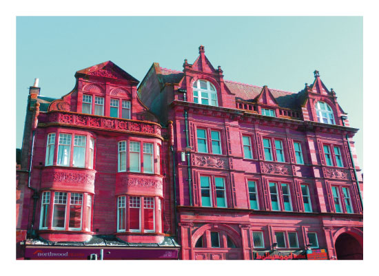 art prints - Pink Building Turquoise Sky by Suzie Gilmour
