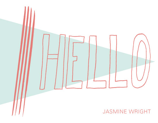 personal stationery - Pointed Hello by Laura Green