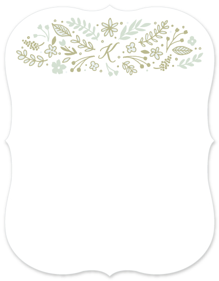 personal stationery - Floral Monogram by Hooray Creative