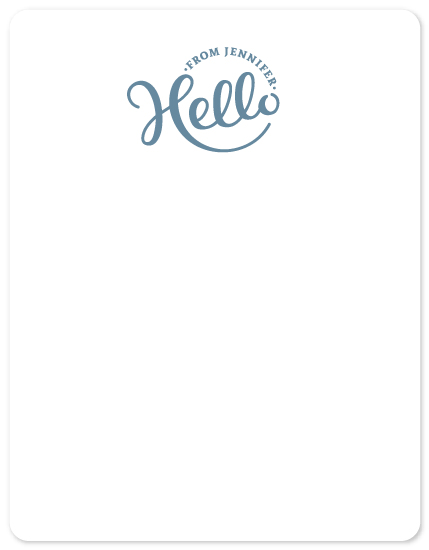 personal stationery - Hello Stamp by Heather DeLong