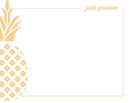 personal stationery - Pretty Pineapple by Ann Connelly