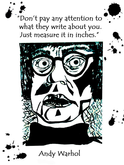 art prints - Words from Warhol by Laura Loving