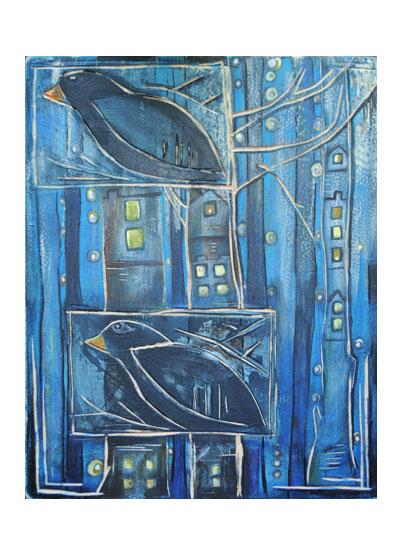 art prints - Bird 'hood by Amy Wicherski
