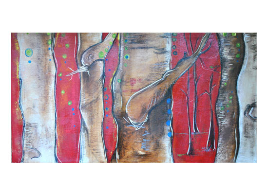 art prints - Forest in Red by Amy Wicherski
