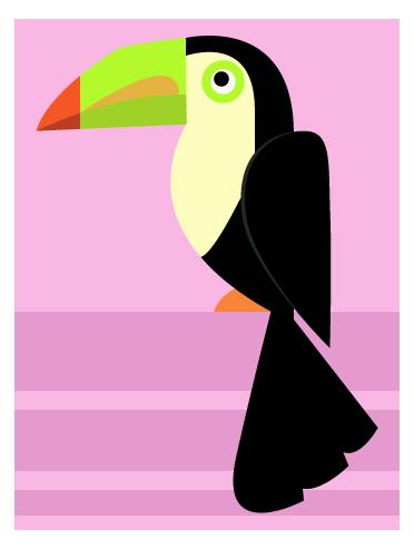 art prints - Pretty Bird (Girl) by Kirsten Alexis