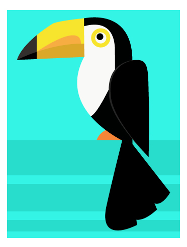 art prints - Pretty Bird (Boy) by Kirsten Alexis
