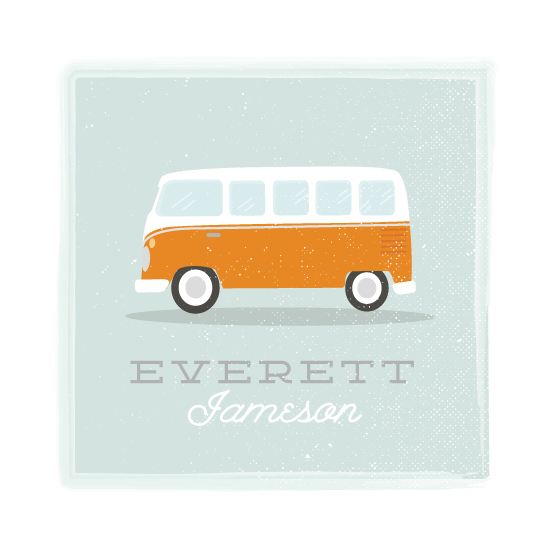 art prints - Little Bus by Itsy Belle Studio