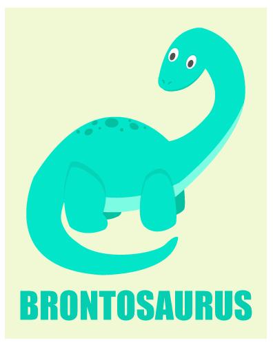 art prints - Baby Brontosaurus by Kirsten Alexis