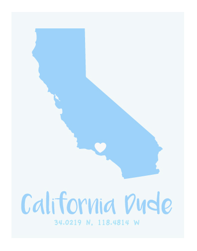 art prints - California Dude by Kirsten Alexis