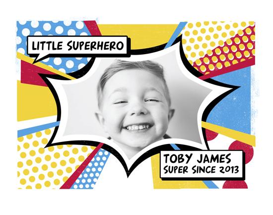 art prints - Little Superhero by Faye Brown