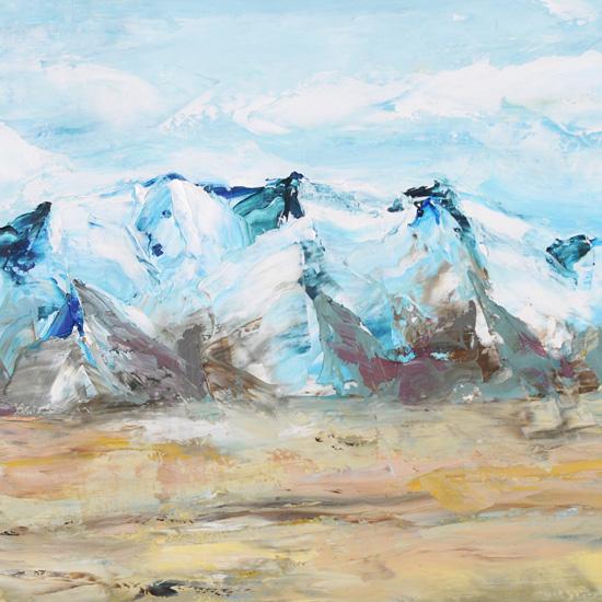 art prints - Blue Mountain by Laura Morris