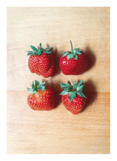 art prints - Strawberries by Panda and Pangolin