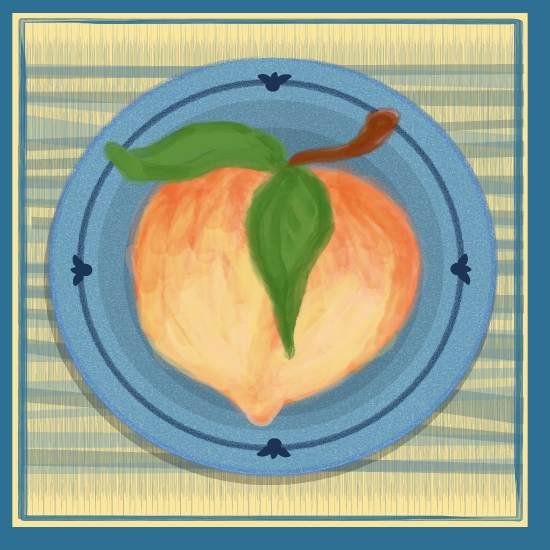 art prints - Just Peachy by LD Gonzalez