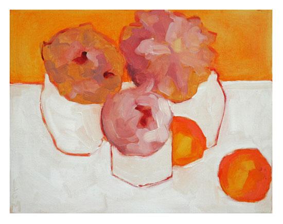 art prints - Peonies and Kumquats by Lynne Millar