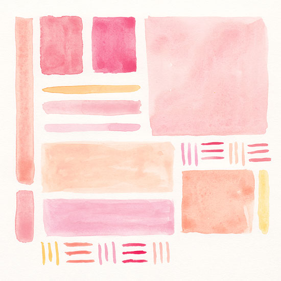 art prints - Orange + Pink 1 by Lauren Young