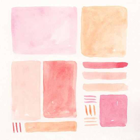 art prints - Orange + Pink 2 by Lauren Young