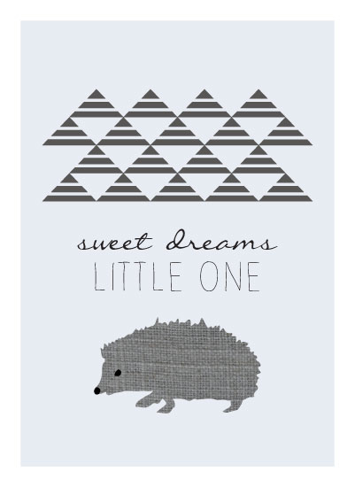 art prints - Little Hedgehog by Jacquelyn Smith