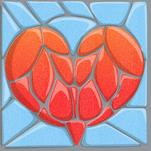 Stone Mosaic Heart by LD Gonzalez