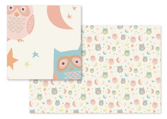 fabric - Quite Charming Owls by Amy Moen