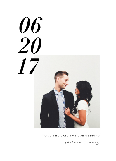 save the date cards - Sleek Numbers by Simona Camp