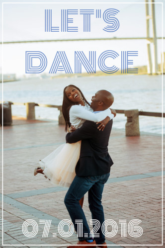save the date cards - Let's Dance by Alexandra LeBlanc