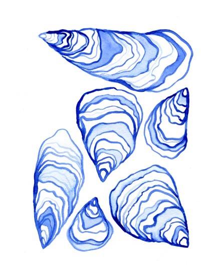 art prints - Friendly Oysters by Anna Hilton