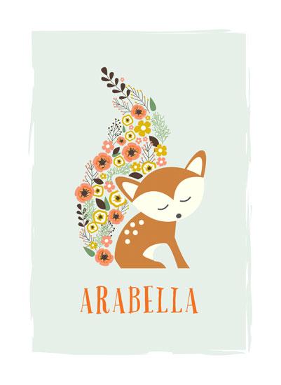 art prints - Little Flower Fox by Jennifer Postorino