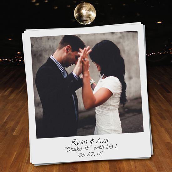 save the date cards - Shake It by jennifer evangelist