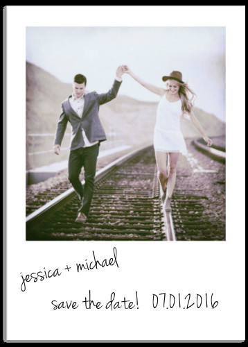 save the date cards - Polaroid by Alexandra LeBlanc