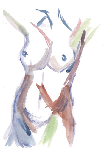 art prints - Watercolor Nude by Kelsey Sylvan