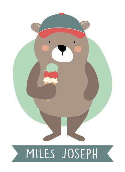 art prints - Triple Scoop Bear by Andrea Matray