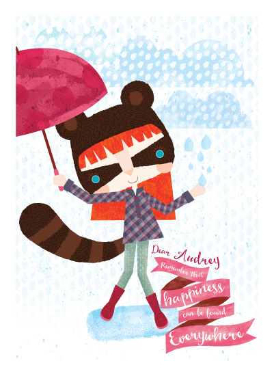 art prints - Happy rainy day by Eulalia Mejia