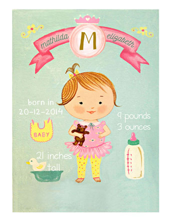 art prints - baby vintage by Monica Dustin