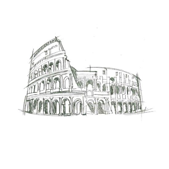 art prints - World Landmarks: Rome by Kelsey McNatt