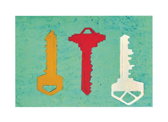 art prints - three keys by ann t jones