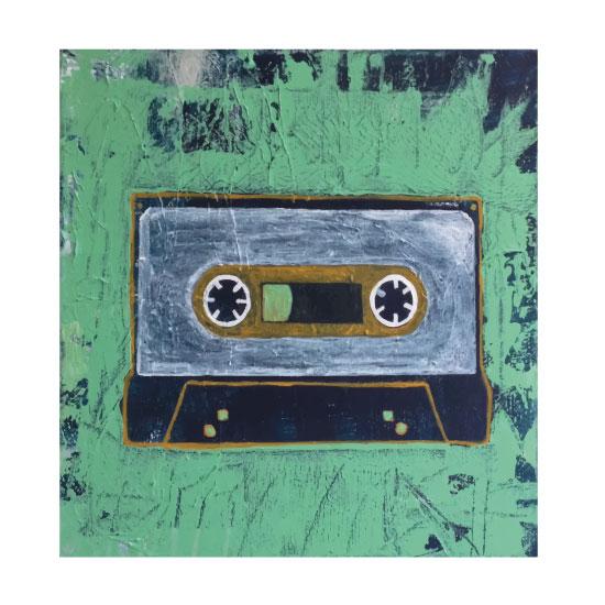 art prints - throwback tunes series-cassette tape by ann t jones