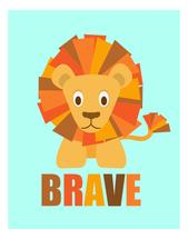 Brave Little Lion by Kirsten Alexis