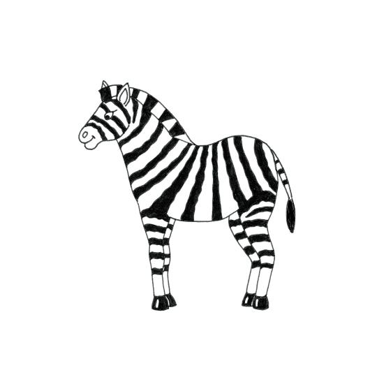art prints - Chubby zebra boy who likes to make friends by Leysan Shayakbirova
