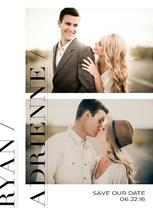 Modern Save the Date by Julia Marye