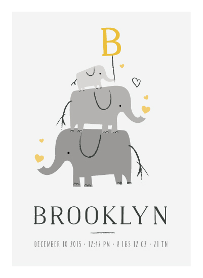 art prints - Elephant Family by Chryssi Tsoupanarias
