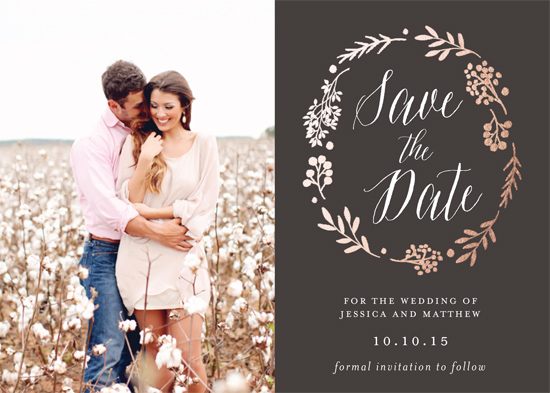 save the date cards - Rustic Modern Floral by Gray Star Design